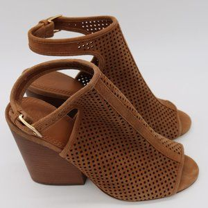 Tory Burch Jesse Bootie Sandals in Caramel-sz 8.5